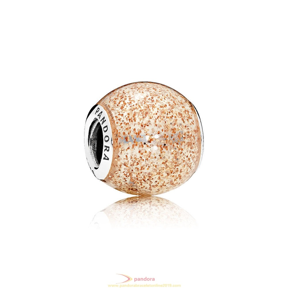 Find Pandora Jewelry Pandora Contemporary Charms Glitter Ball Charm Rose Golden Glitter Enamel