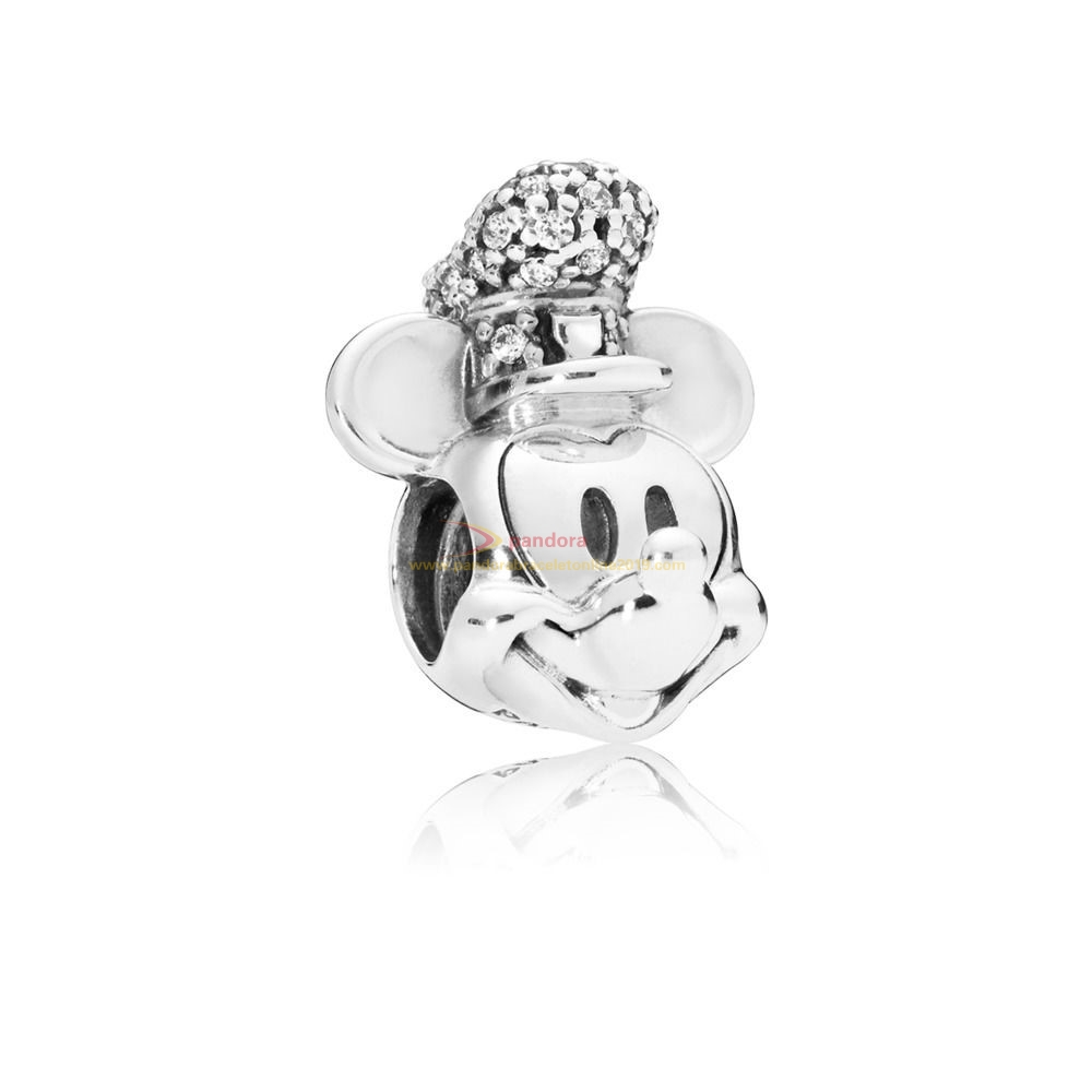 Find Pandora Jewelry Charm Disney, Portrait De Mickey Version Steamboat Willie Scintillant