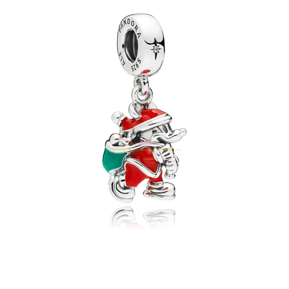 Find Pandora Jewelry Disney Santa Mickey & Gift Bag Hanging Charm