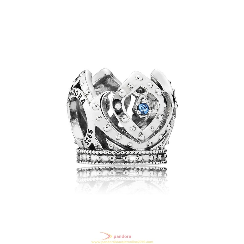 Find Pandora Jewelry Pandora Disney Charms Elsa'S Crown Charm Blue Cz