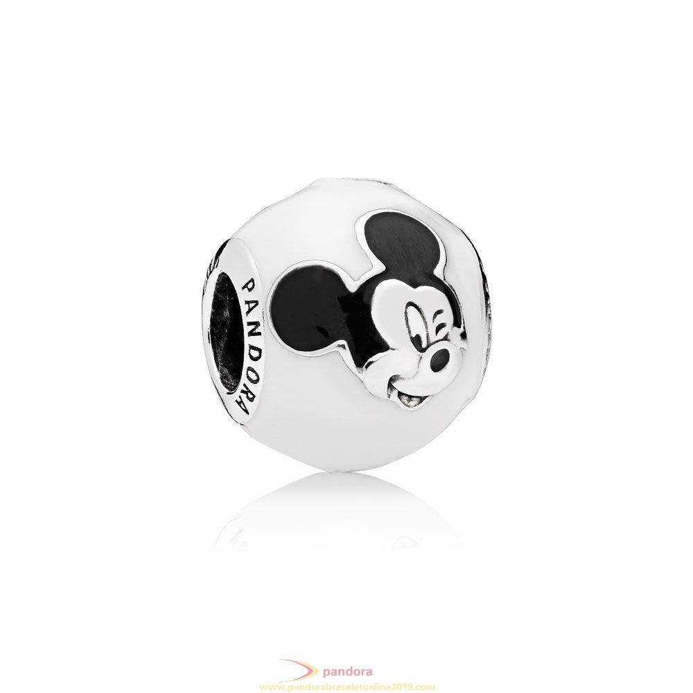 Find Pandora Jewelry Pandora Disney Charms Expressive Mickey Charm White Black Enamel