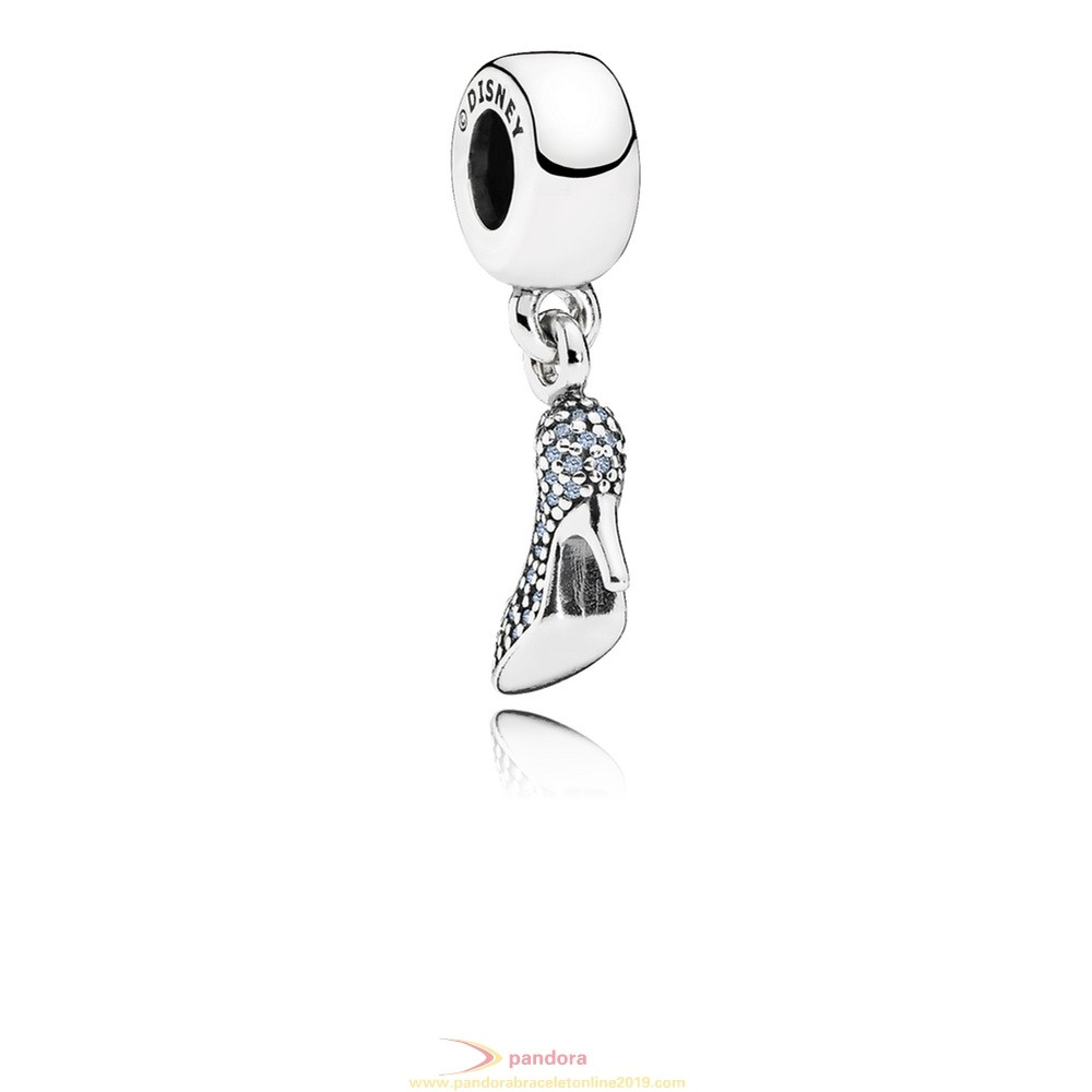 Find Pandora Jewelry Pandora Disney Charms Cinderella Sparkling Slipper Pendant Charm Fancy Light Blue Cz