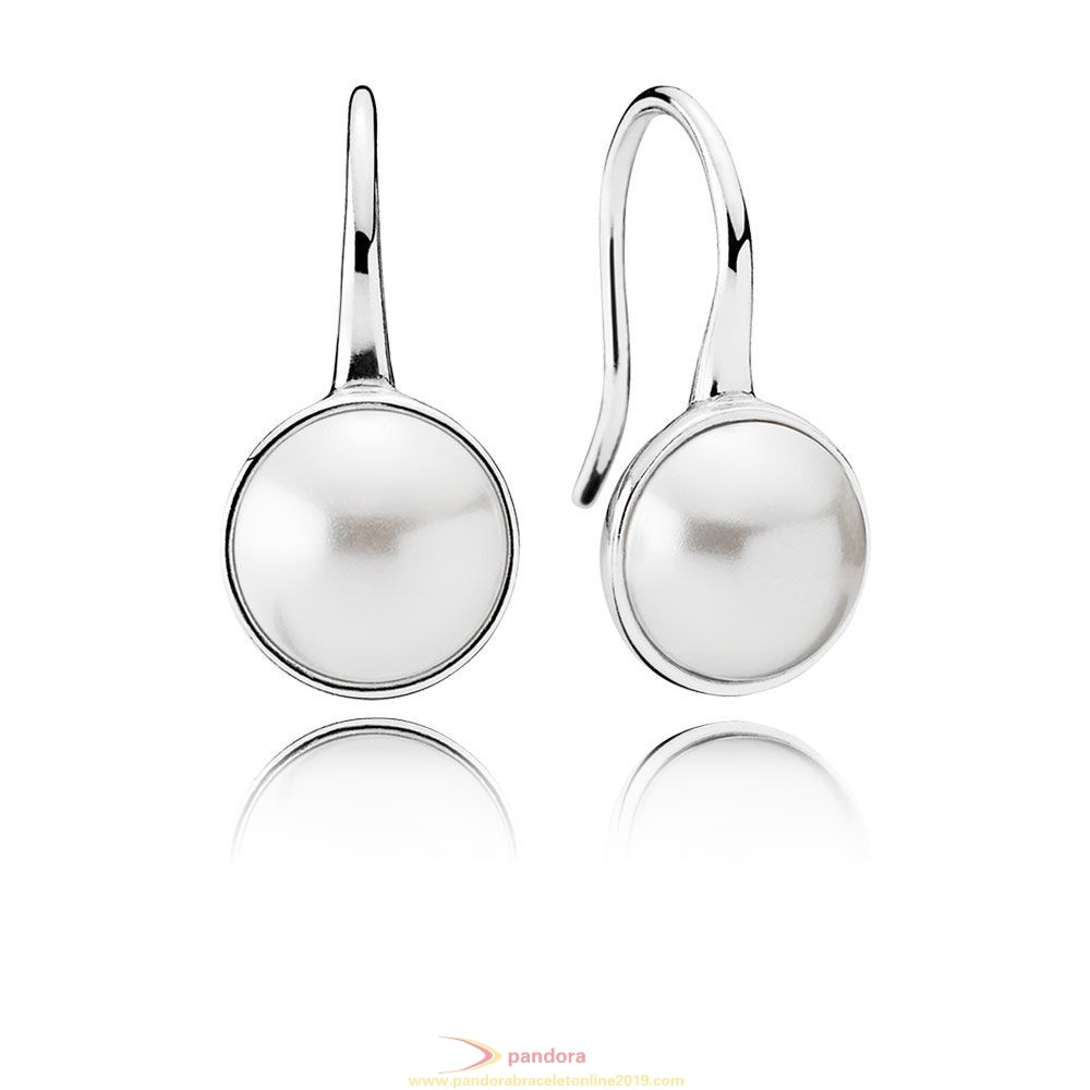 Find Pandora Jewelry Pandora Earrings Luminous Droplets Drop Earrings White Crystal Pearl