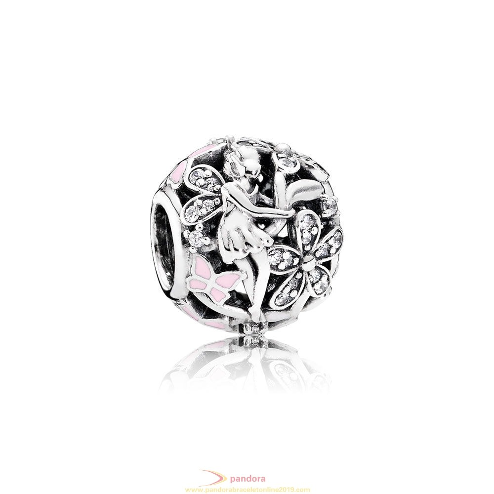 Find Pandora Jewelry Pandora Fairy Tale Charms Dazzling Daisy Fairy Light Pink Enamel Clear Cz