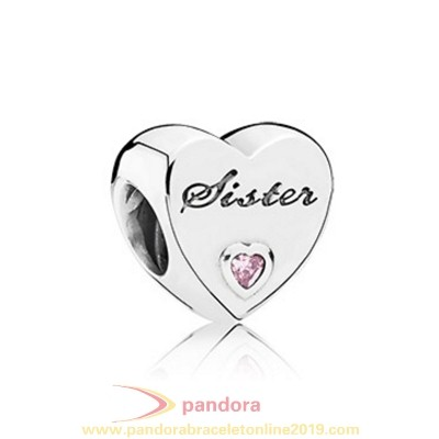 Find Pandora Jewelry Pandora Friends Charms Sister'S Love Charm Pink Cz