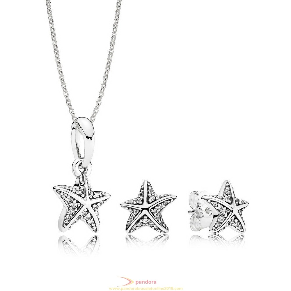 Find Pandora Jewelry Tropical Starfish Necklace And Earring Set