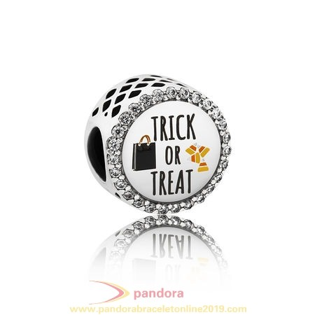 Find Pandora Jewelry Pandora Holidays Charms Halloween Trick Or Treat Charm Mixed Enamel Clear Cz