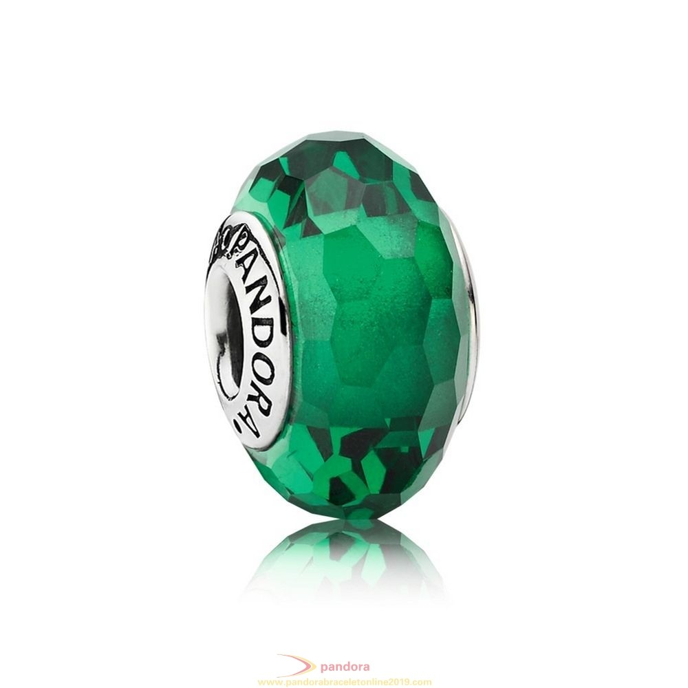 Find Pandora Jewelry Pandora St. Patrick'S Day Good Luck Charms Fascinating Green Charm Murano Glass