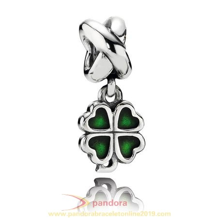 Find Pandora Jewelry Pandora St. Patrick'S Day Good Luck Charms Four Leaf Clover Pendant Charm Green Enamel