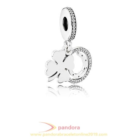 Find Pandora Jewelry Pandora St. Patrick'S Day Good Luck Charms Lucky Day Pendant Charm Clear Cz