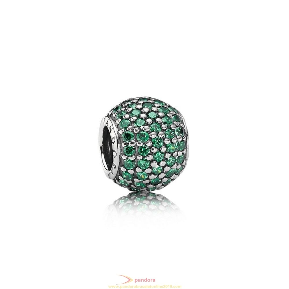 Find Pandora Jewelry Pandora St. Patrick'S Day Good Luck Charms Pave Lights Charm Dark Green Cz