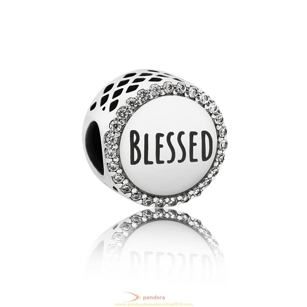Find Pandora Jewelry Pandora Inspirational Charms Blessed Charm Clear Cz