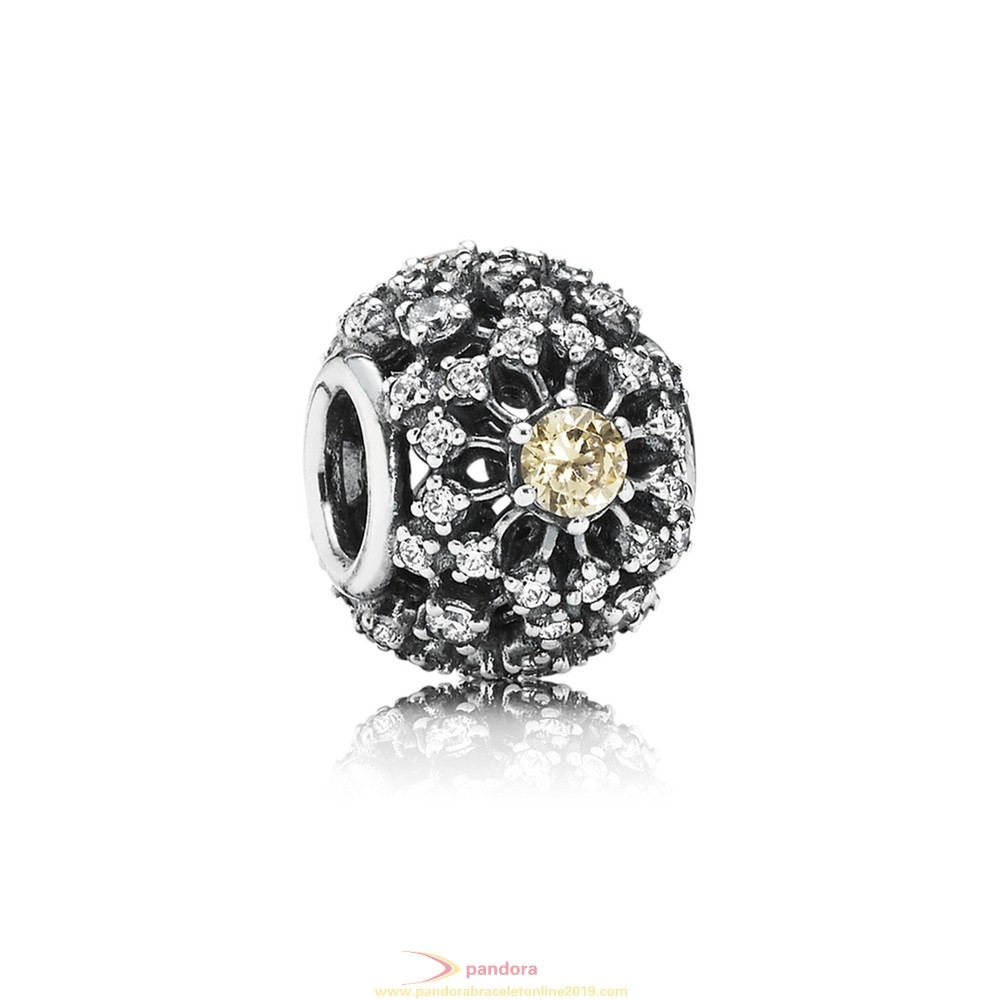 Find Pandora Jewelry Pandora Inspirational Charms Inner Radiance Golden Colored Clear Cz