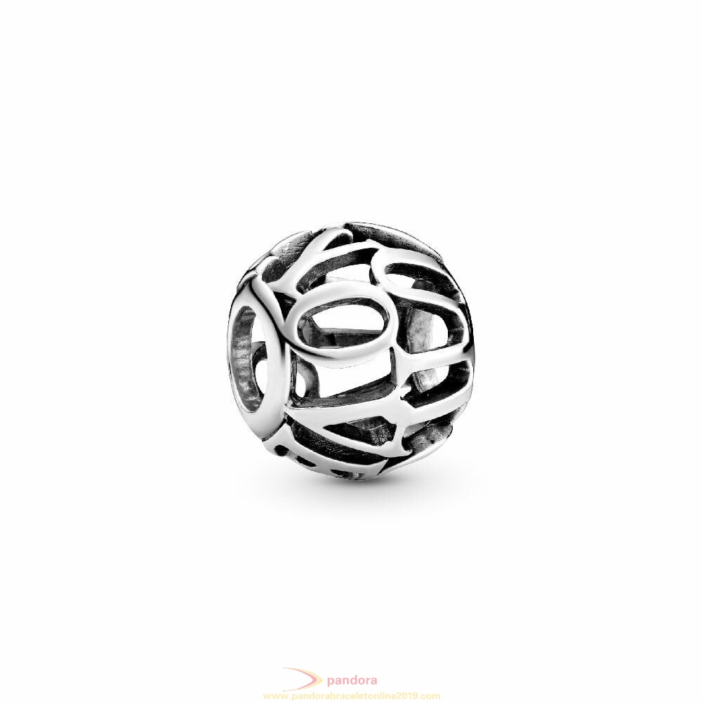 Find Pandora Jewelry Charm Inscription I Love You Openwork