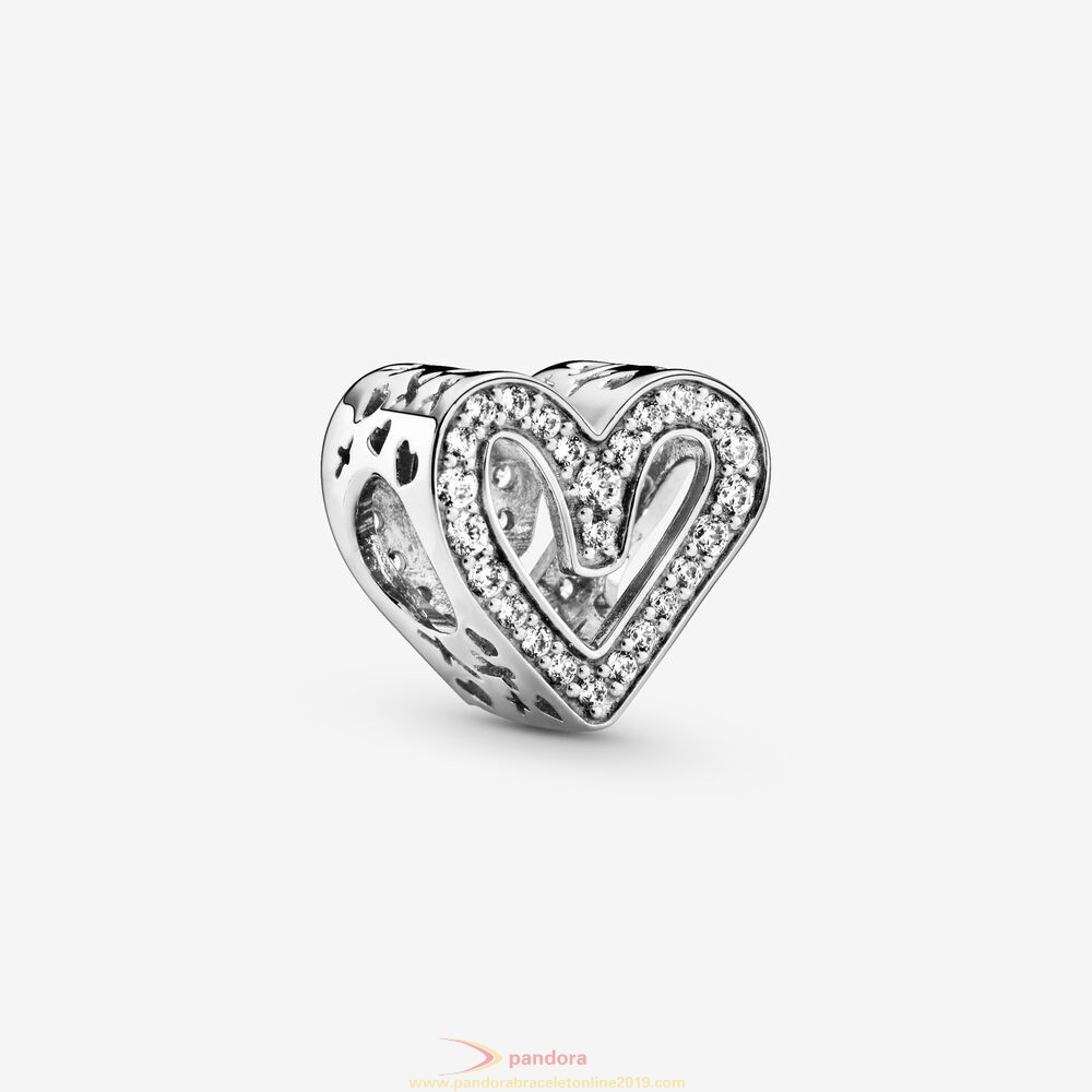 Find Pandora Jewelry Glittering Drawn Heart Charm