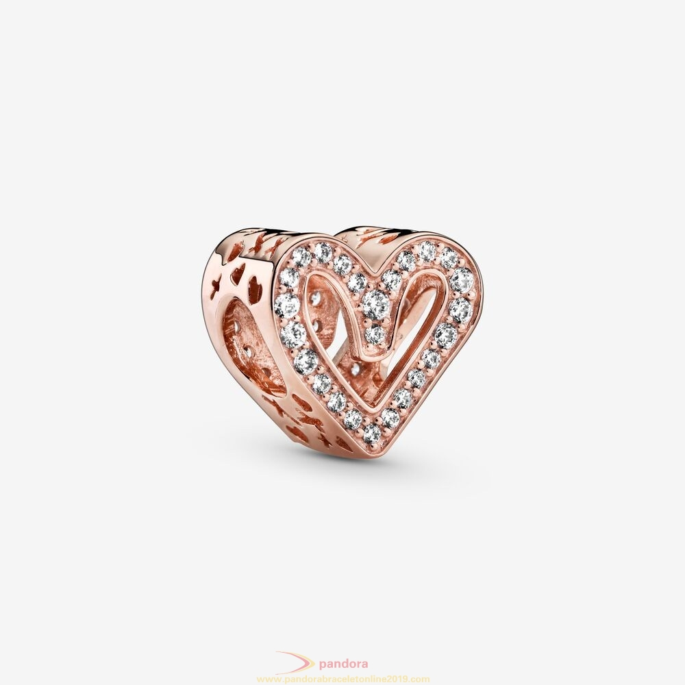 Find Pandora Jewelry Glittering Heart Sketch Charm