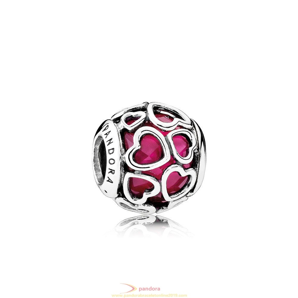 Find Pandora Jewelry Pandora Symbols Of Love Charms Cerise Encased In Love Charm Cerise Crystal