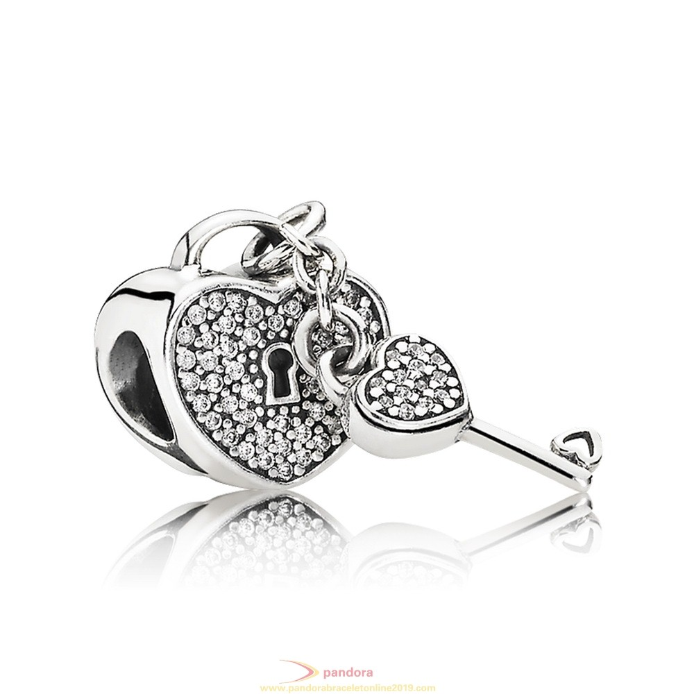 Find Pandora Jewelry Pandora Symbols Of Love Charms Lock Of Love Charm Clear Cz