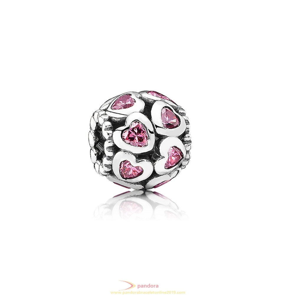 Find Pandora Jewelry Pandora Symbols Of Love Charms Love All Around Charm Fancy Pink Cz
