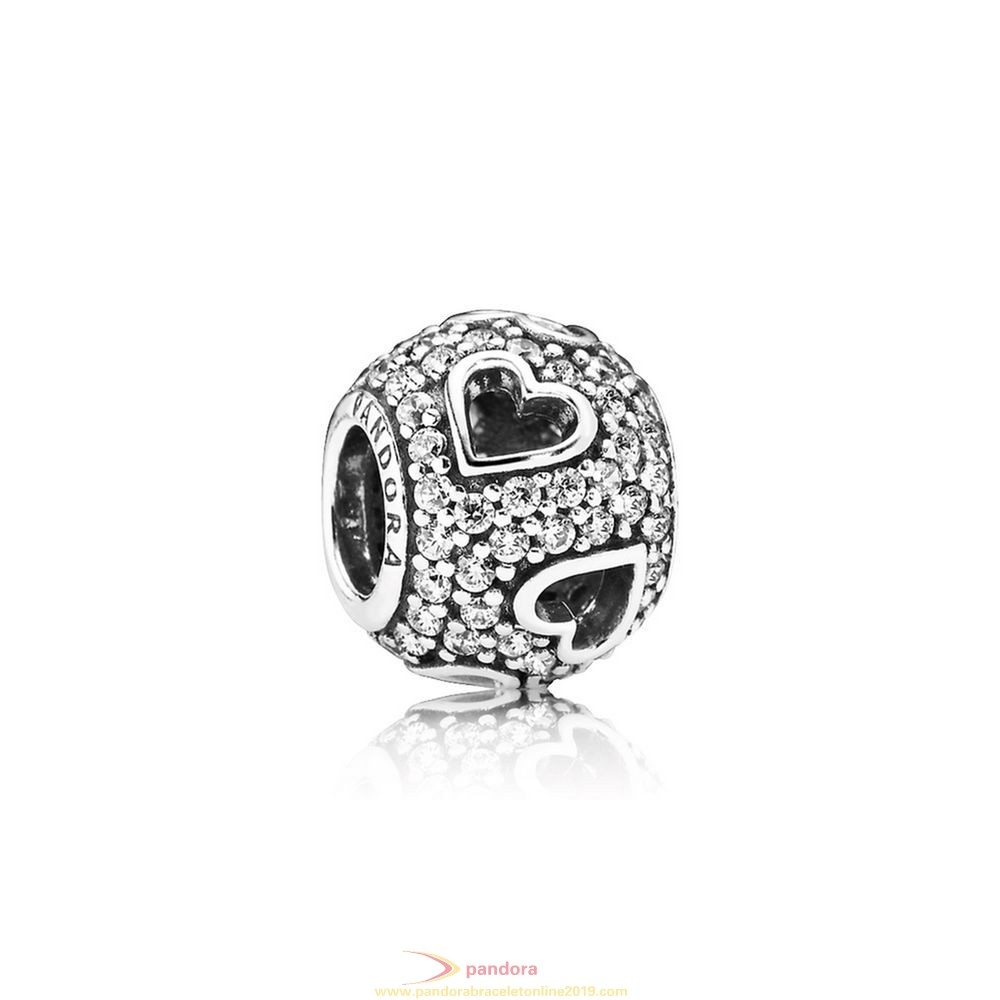 Find Pandora Jewelry Pandora Symbols Of Love Charms Tumbling Hearts Charm Clear Cz