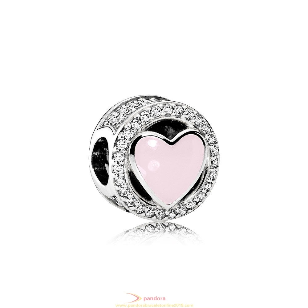 Find Pandora Jewelry Pandora Symbols Of Love Charms Wonderful Love Soft Pink Enamel Clear Cz