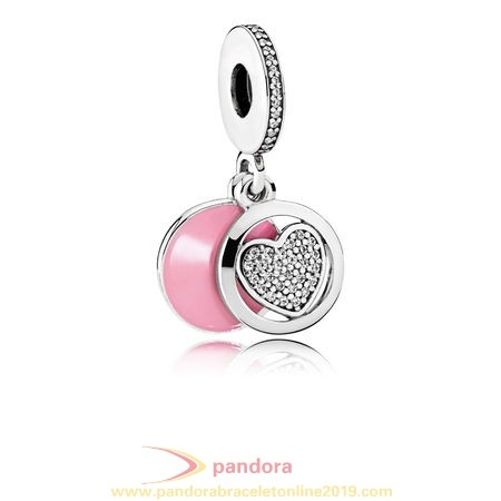 Find Pandora Jewelry Pandora Valentine'S Day Charms Devoted Heart Pendant Charm Pink Enamel Clear Cz