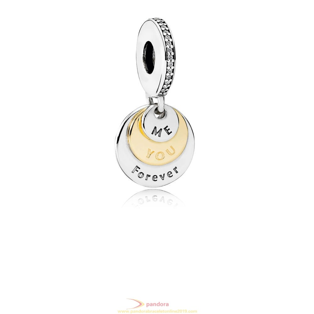 Find Pandora Jewelry Pandora Valentine'S Day Charms You Me Forever Pendant Charm Clear Cz