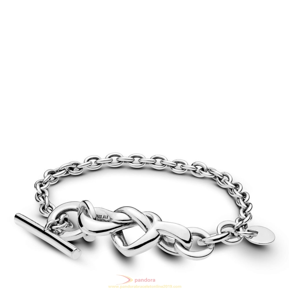 Find Pandora Jewelry Knotted Heart Bracelet