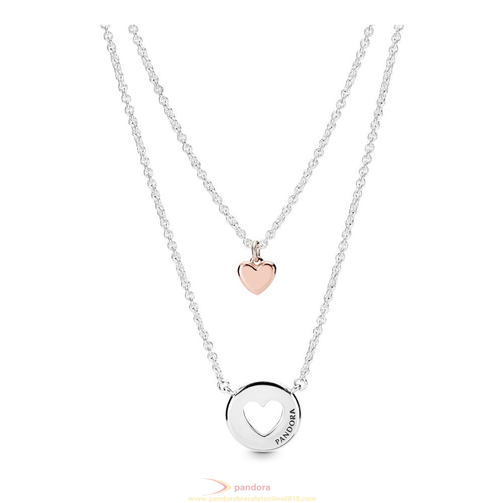 Find Pandora Jewelry Layered Heart Necklace