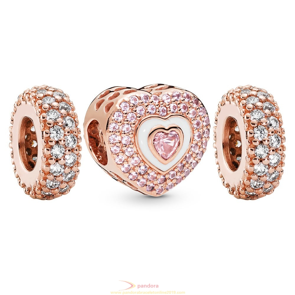 Find Pandora Jewelry Pandora Rose Hearts On Hearts Charm Pack