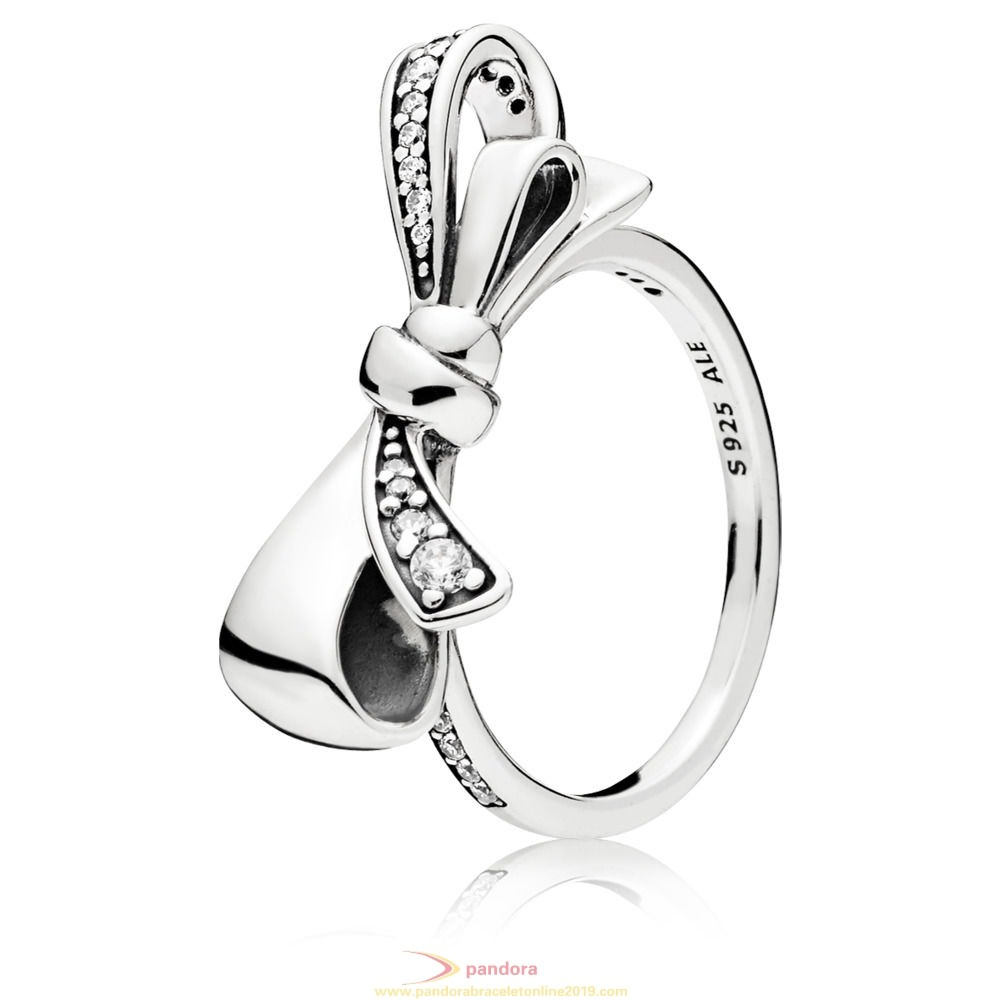 Find Pandora Jewelry Brilliant Bow Ring Clear Cz