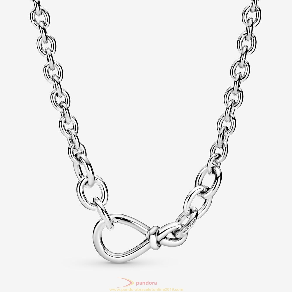 Find Pandora Jewelry Chunky Infinity Knot Chain Necklace