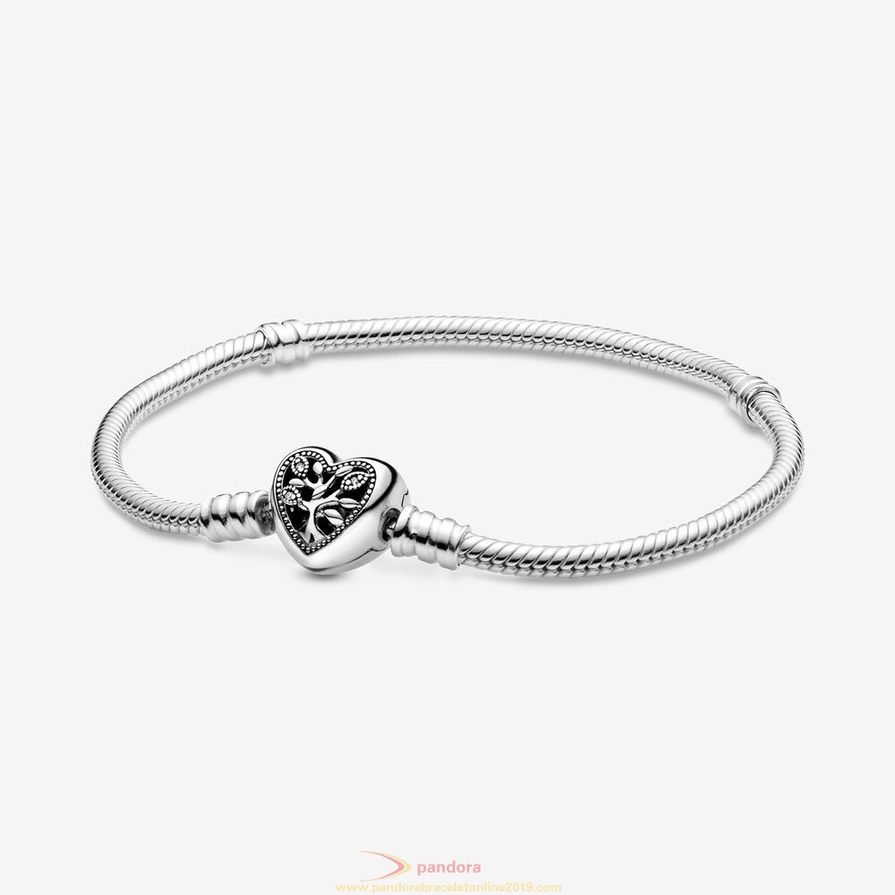 Find Pandora Jewelry Pandora Moments Snake Chain Bracelet With Family Tree Heart Clasp