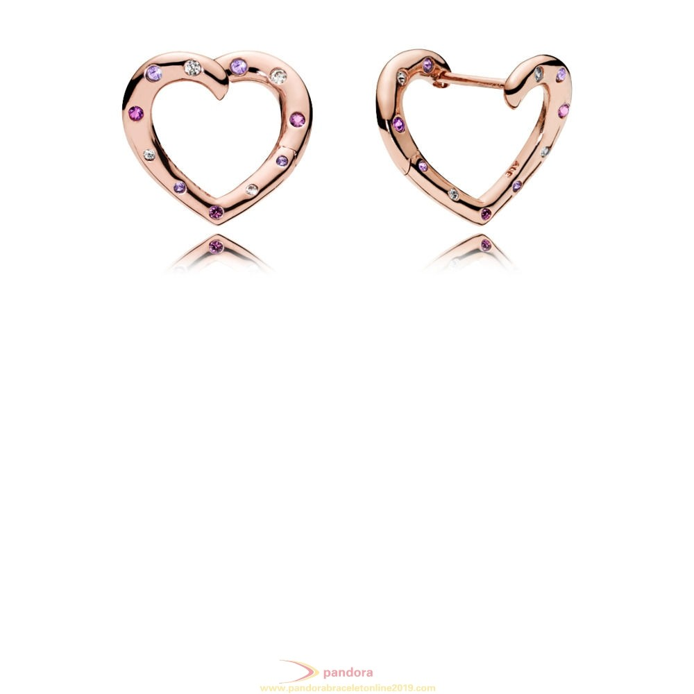 Find Pandora Jewelry Pandora Rose Bright Heart Hoops