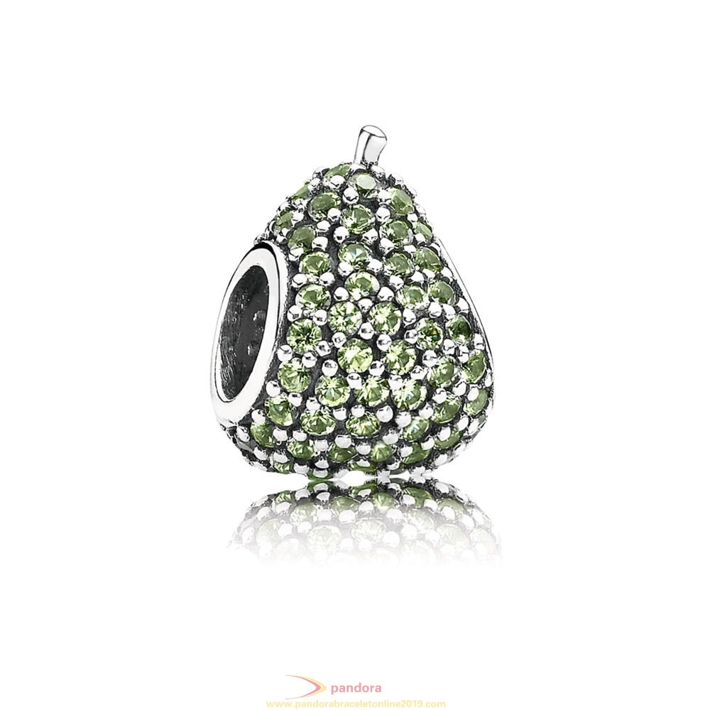 Find Pandora Jewelry Green Pave Pear Charm