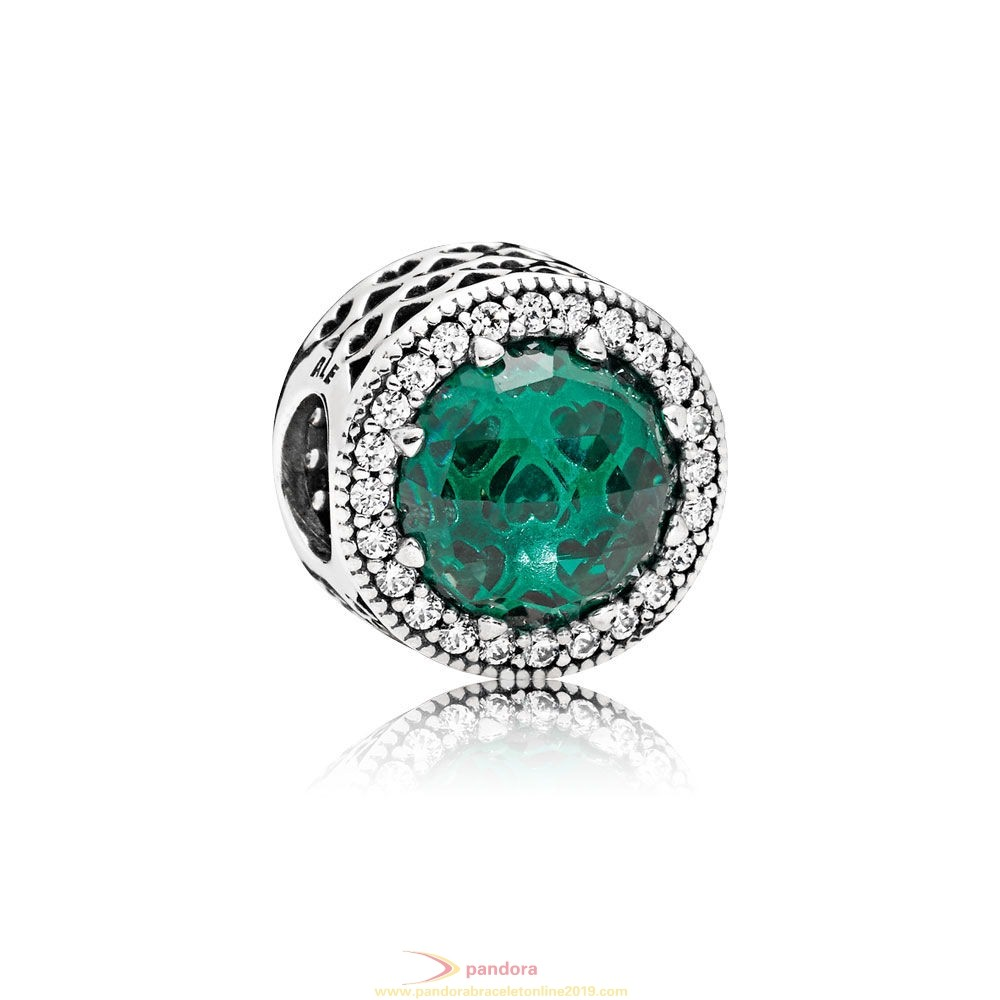 Find Pandora Jewelry Inspiration Winter Collection Radiant Hearts Charm Sea Green Crystals Clear Cz