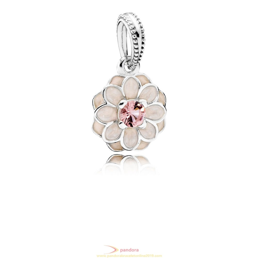 Find Pandora Jewelry Pandora Nature Charms Blooming Dahlia Pendant Charm Cream Enamel Blush Pink Crystal
