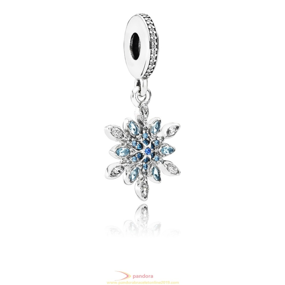 Find Pandora Jewelry Pandora Nature Charms Crystalized Snowflake Pendant Charm Blue Crystals Clear Cz
