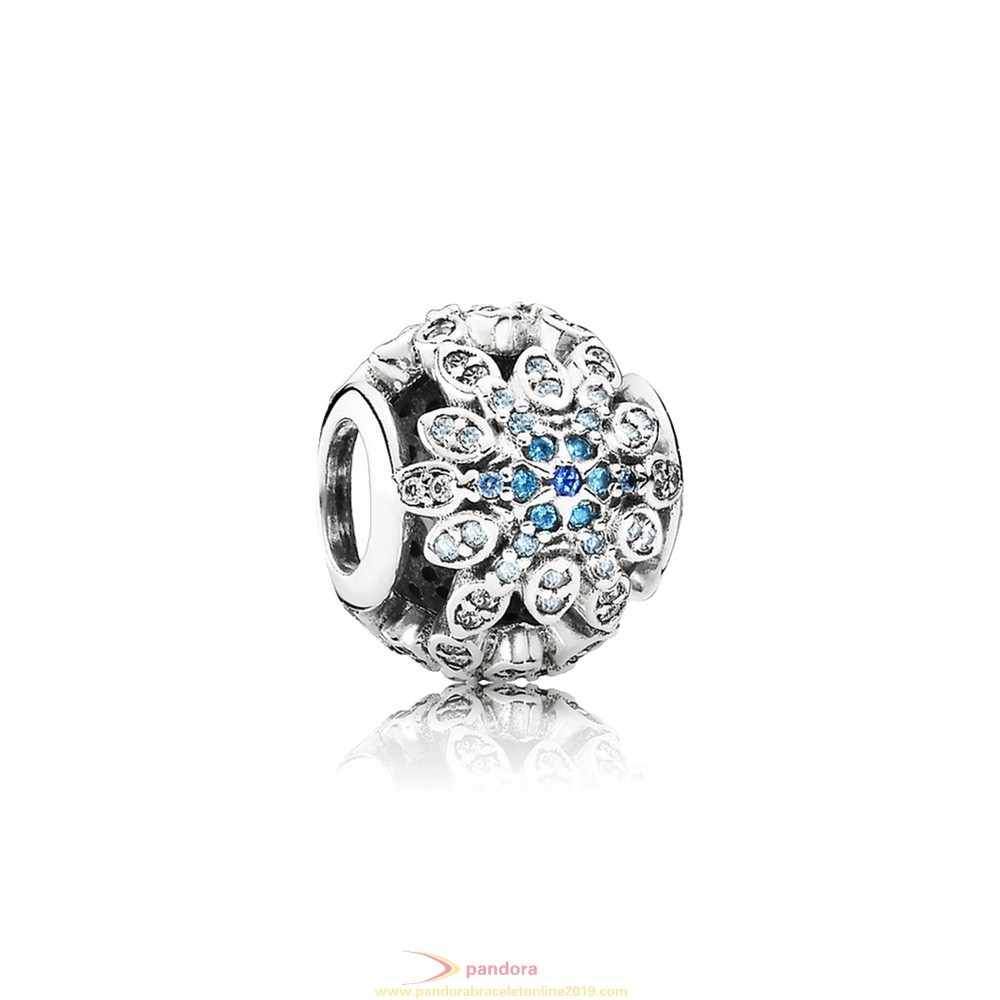 Find Pandora Jewelry Pandora Nature Charms Crystalized Snowflakes Charm Blue Crystals Clear Cz