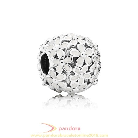 Find Pandora Jewelry Pandora Nature Charms Darling Daisy Meadow Clip White Enamel