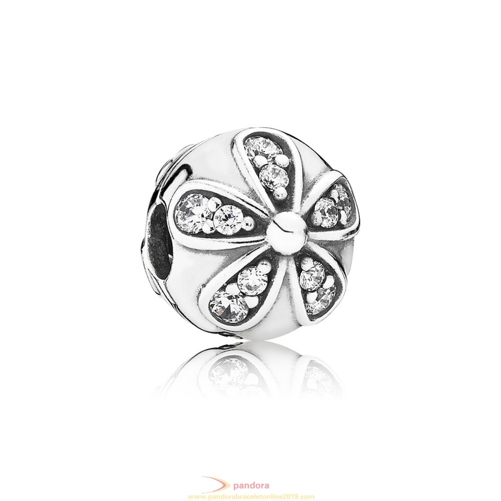 Find Pandora Jewelry Pandora Nature Charms Dazzling Daisies Clip Clear Cz