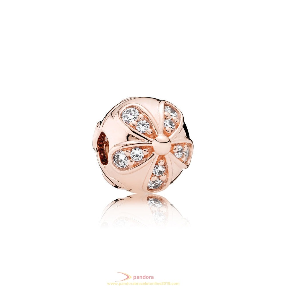 Find Pandora Jewelry Pandora Nature Charms Dazzling Daisies Clip Pandora Rose Clear Cz