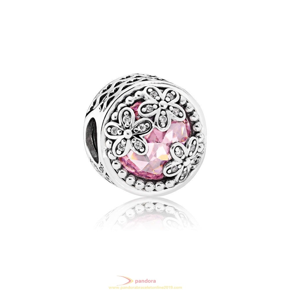Find Pandora Jewelry Pandora Nature Charms Dazzling Daisy Meadow Pink Clear Cz