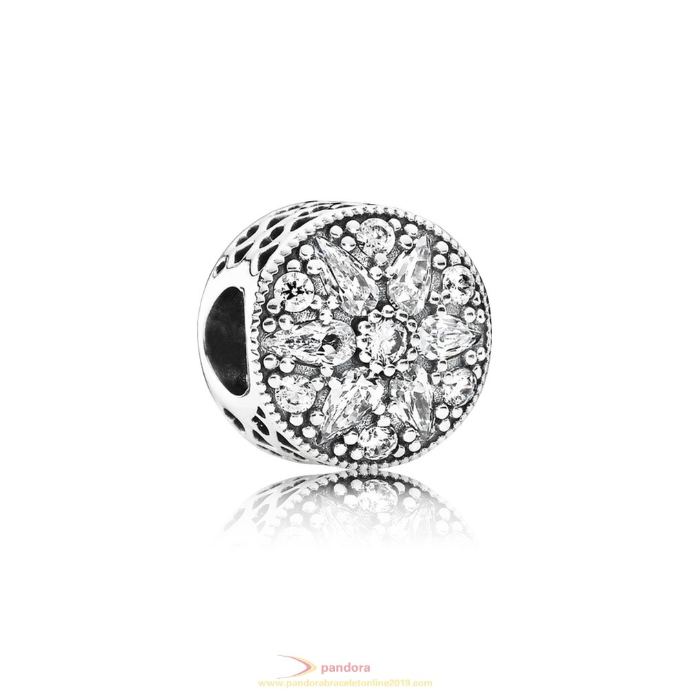 Find Pandora Jewelry Pandora Nature Charms Radiant Bloom Charm Clear Cz