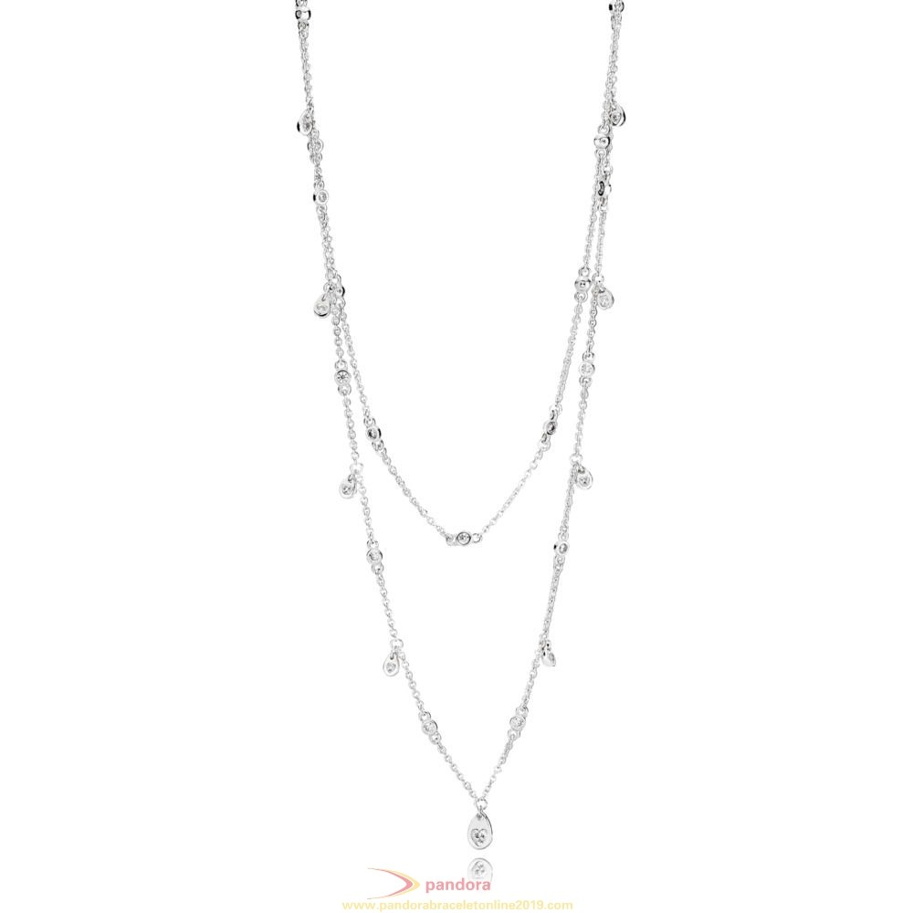 Find Pandora Jewelry Chandelier Droplets Necklace