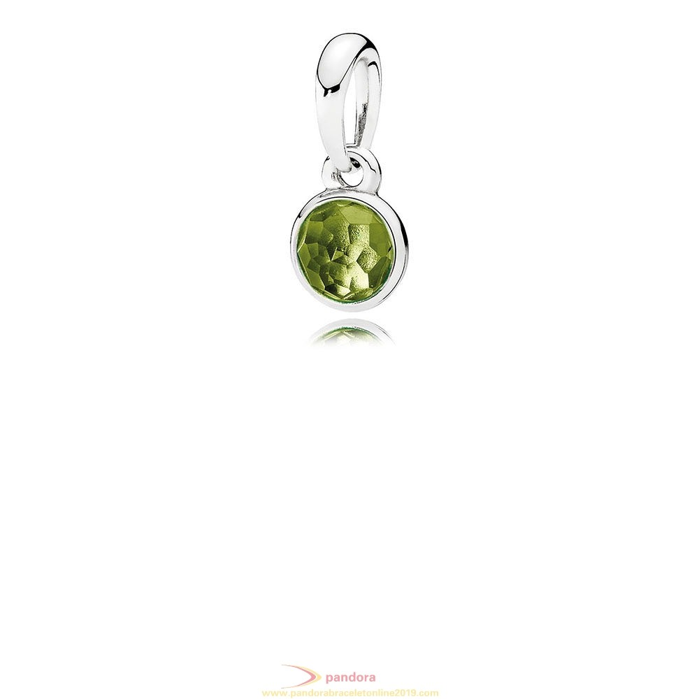 Find Pandora Jewelry Pandora Pendants August Droplet Pendant Peridot