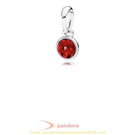 Find Pandora Jewelry Pandora Pendants July Droplet Pendant Synthetic Ruby
