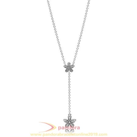 Find Pandora Jewelry Pandora Chains With Pendant Dazzling Daisies Necklace Clear Cz