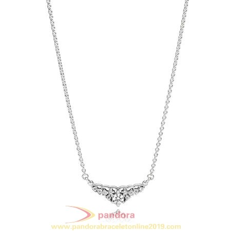 Find Pandora Jewelry Pandora Chains With Pendant Fairytale Tiara Necklace Clear Cz