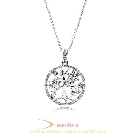 Find Pandora Jewelry Pandora Chains With Pendant Family Tree Pendant Clear Cz